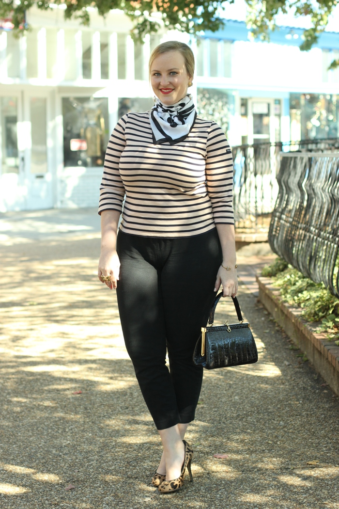 French Girl Style Striped Shirt