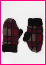 ASOS Check Mate Mittens