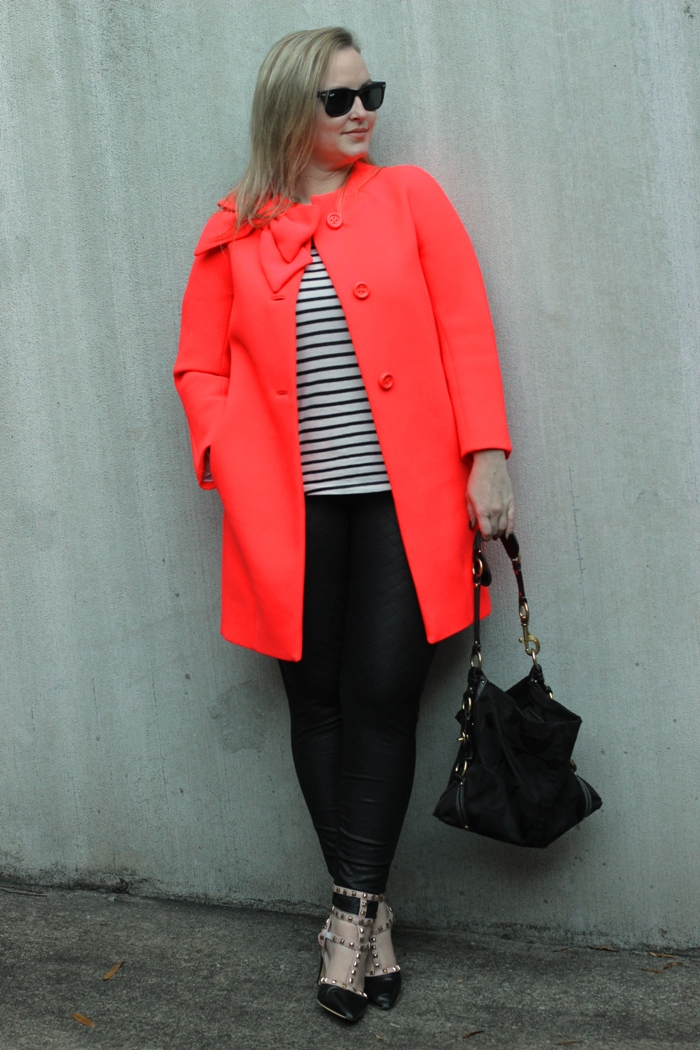 Kate Spade Pink Bow Dororthy Coat