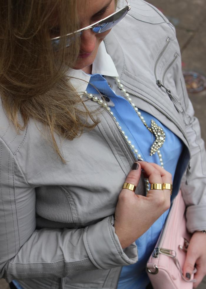 Gray Moto Leather Jacket Nordstrom Rack