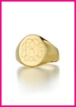 Monogrammed Signet Ring