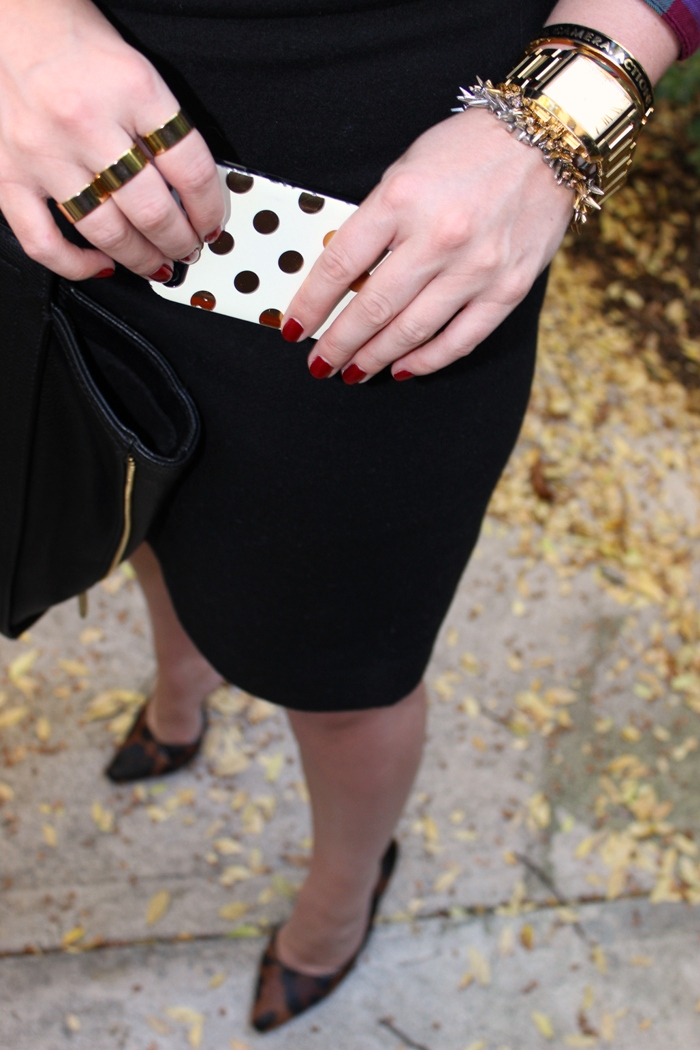 Kate Spade Gold Dot iPhone Case