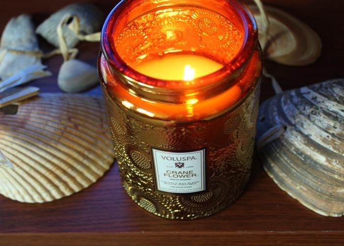 Voluspa Cran Flower Candle
