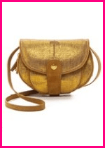 Jerome Dreyfuss Gold Suede Crossbody