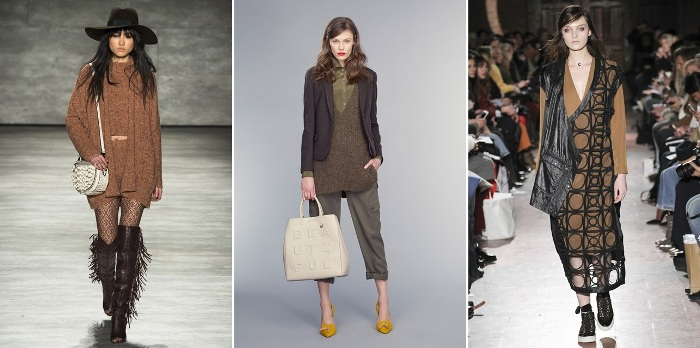 NYFW Autumn Winter Fall 2015 Dark Neutrals Trend