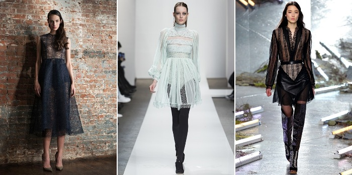 NYFW Autumn Winter Fall 2015 Lace Trend