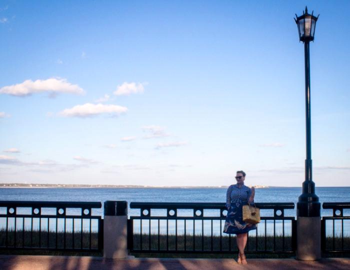 Charleston Waterfront Gingham Sailboat Skirt