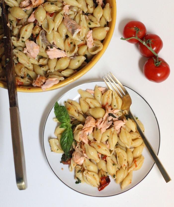 Summer Salmon Pasta Salad