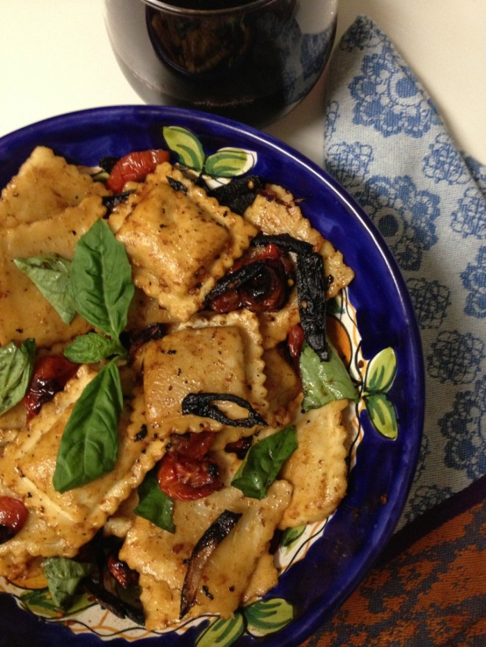 Tomato Ravioli Balsamic