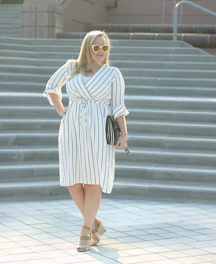 Ann Taylor Stripe Midi Dress