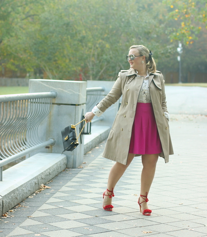 Fuchsia and Red Fall Outfit Atlanta Blogger