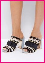 Summer 2017 Fashion Slide Mule Sandals Miss KG Flora Heeled Mule Sandals