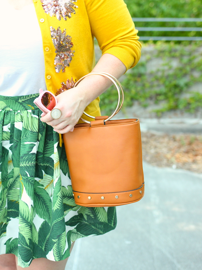Target Bucket Bag Just a Touch Too Much Jenna Wessinger Atlanta Fashion Blogger