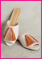 Summer 2017 Fashion Slide Mule Sandals Vicenza Tasseled Slides