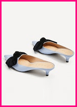 Summer 2017 Fashion Slide Mule Sandals Zara Heeled Mules with Bow