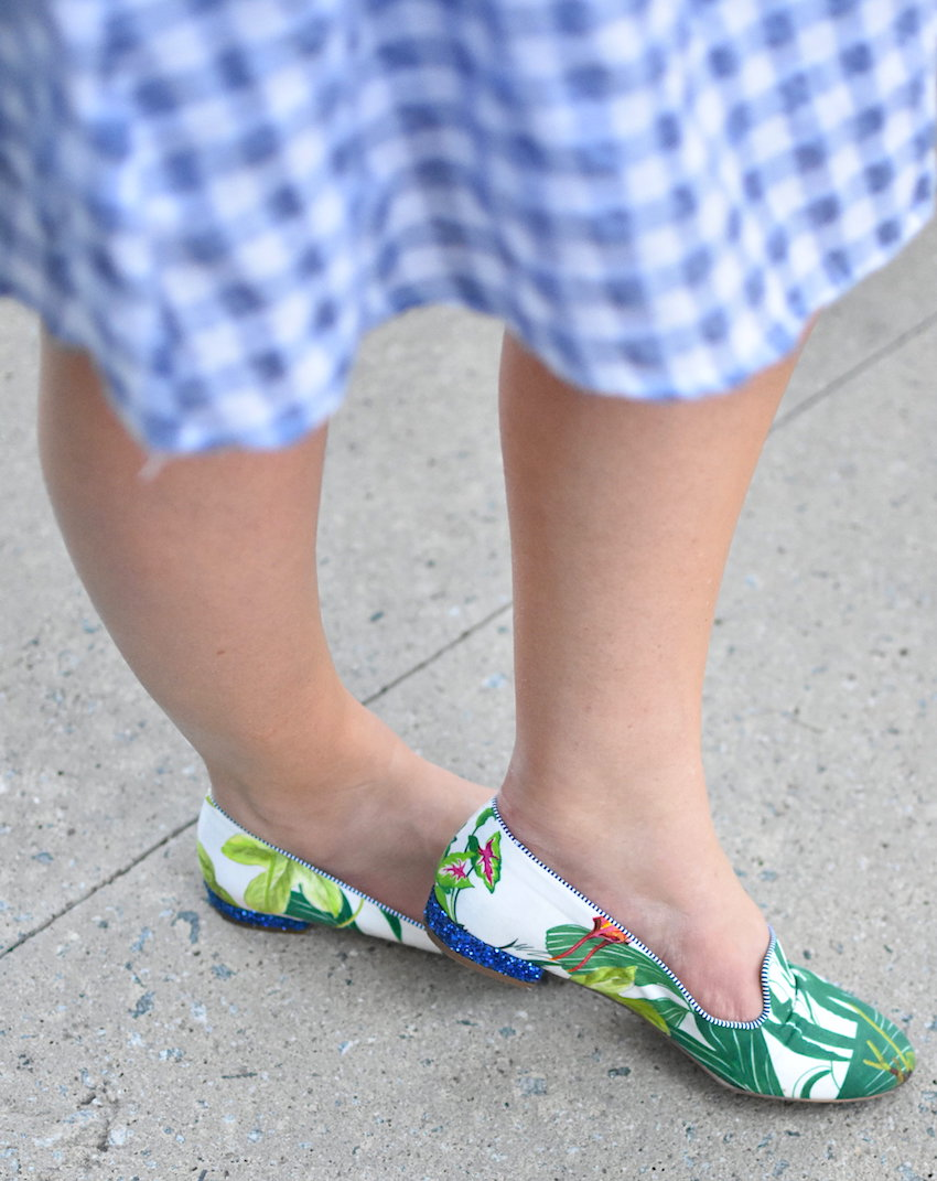 JCrew Raffia Palm Print Loafers Jenna Wessinger Just a Touch Too Much Atlanta Fashion Blog Morgan Hayes Photography