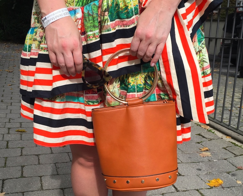 ASOS Postcard Print Dress Target Bucket Bag Jenna Wessinger Just a Touch Too Much Fashion blog