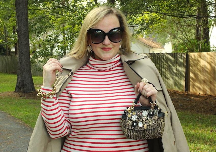 Jcrew Striped Turtleneck Dress Ralph Lauren Nordstrom Trench Jenna Wessinger Fall Outfit Atlanta south