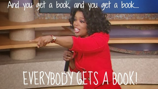 Image result for oprah you get a book