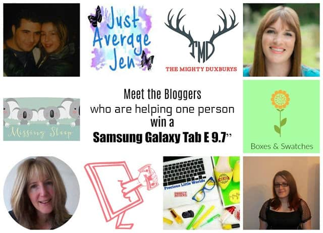 Bloggers' Summer Galaxy Tab E 9.7″ Giveaway