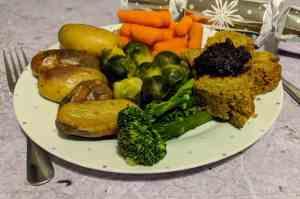 vegetarian Christmas plate