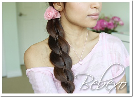 Unique 4 Strand Braid with Micro-braid Hairstyle