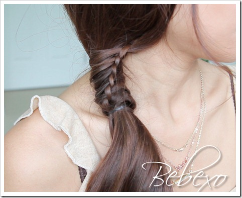 Chinese Staircase Stitch Braid Ponytail Hairstyle