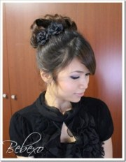 classic prom hairstyle pin curl