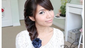 Fancy Looped Side Ponytail Hairstyle · Bebexo Lifestyle Blog