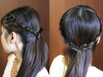Crown Lace Braid Hairstyle by Bebexo