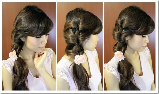 Fancy Looped Side Ponytail Hairstyle