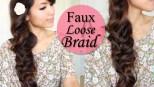 Faux Loose Fishtail Braid