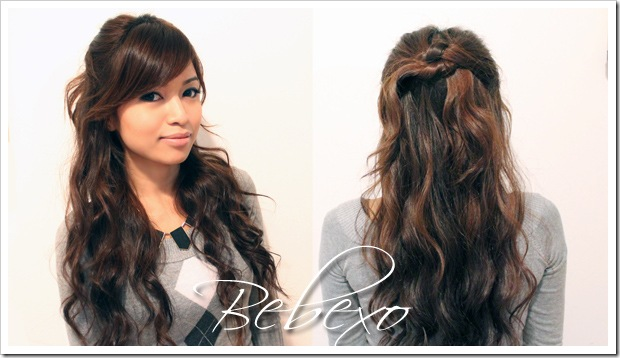 Holiday Half Up Half Down Knotted Hairstyle