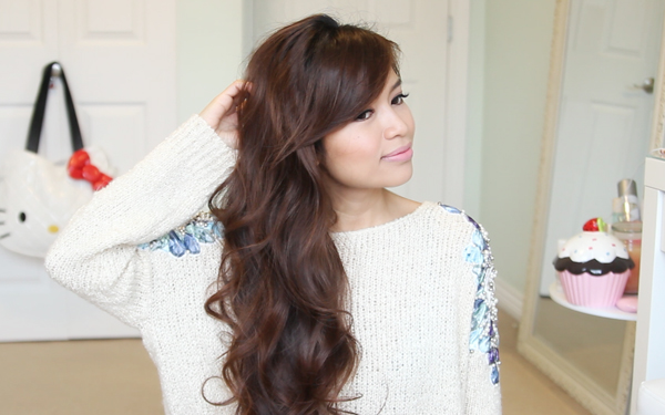 Heatless Curls Hairstyle With a Sock Bun