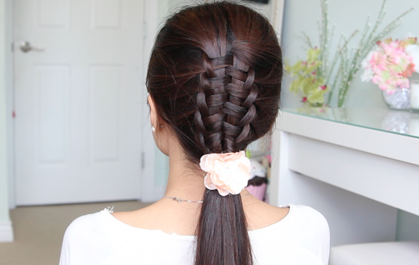 Zipper Braid / Suspended Infinity Braid Hair Tutorial