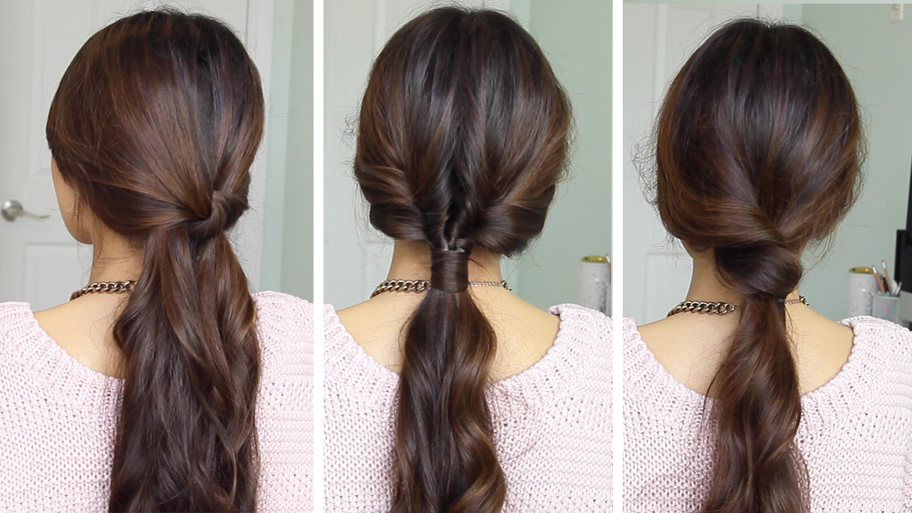 Woke Up Late But Still Want To Do Something Cute And Easy To Your Hair? I  Got You! Here Are Three Quick And Simple Ponytails That You Can Do When  Youu0027re In ...