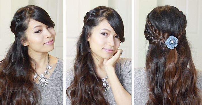 Picture Perfect Holiday Braided Hairstyle