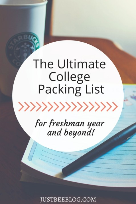 The Ultimate College Packing List - Just Bee