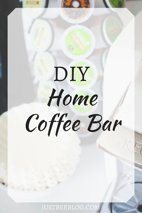 DIY Home Coffee Bar - Give your place that coffee shop flair! - Just Bee Blog
