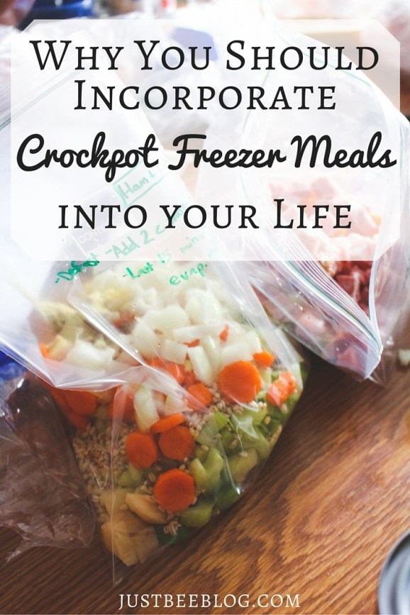 Why You Should Incorporate Crockpot Freezer Meals Into Your Life - crockpot meals have made all the difference for us! - Just Bee