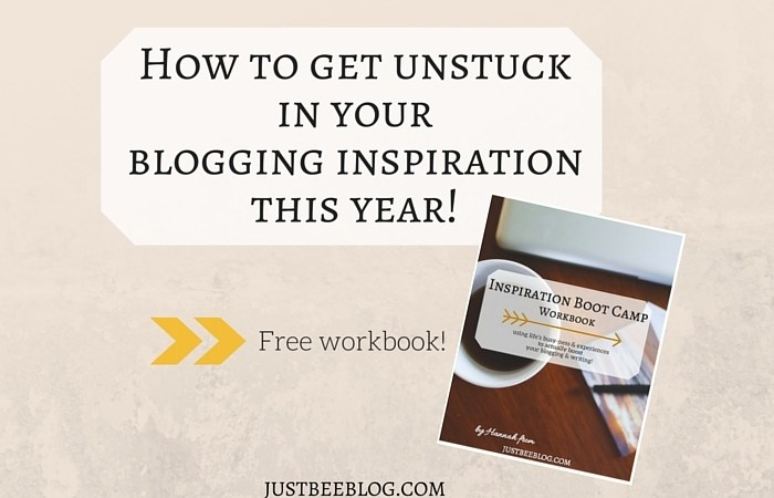 How to Find Your Blogging Inspiration Again (+ a free workbook!)