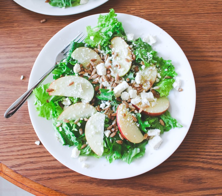 Apple Feta Salad Recipe - our new favorite salad!! Just Bee Blog