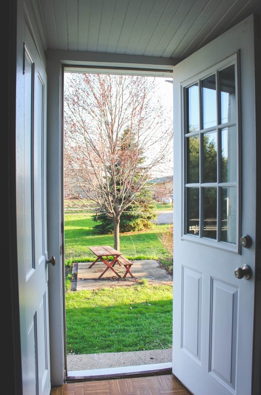 The springy scene out our back door! :)