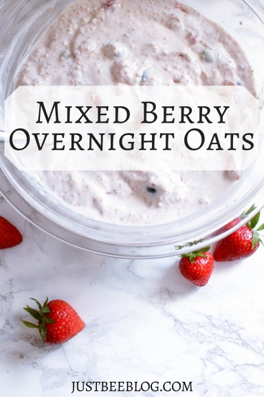 Mixed Berry Overnight Oats Recipe - Just Bee Blog