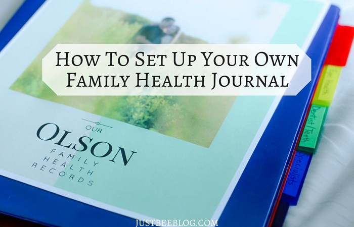 How to Set Up a Family Health Journal