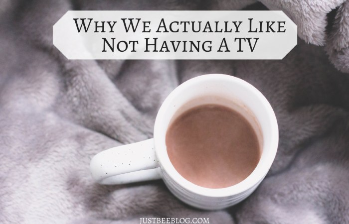 Why We Actually Like Not Having a Television