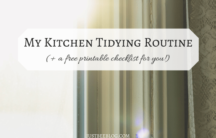 Kitchen Tidying Checklist (Free Printable!)