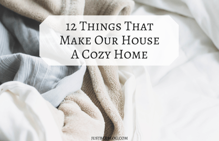 12 Things That Make Our House a Cozy Home