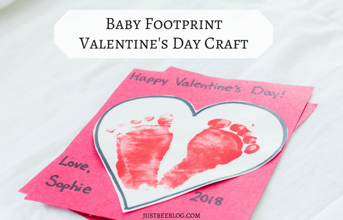 Baby Footprint Valentine's Day Craft