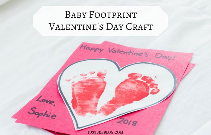 Baby Footprint Valentine's Day Craft